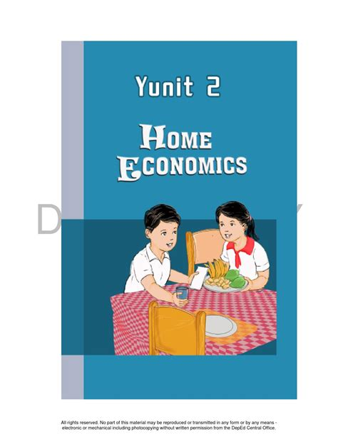 HOME ECONOMICS 4 TEACHER'S GUIDE by project planning - Issuu