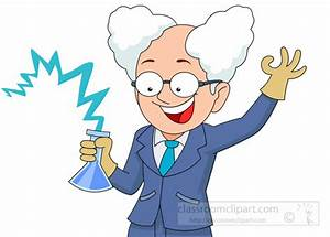 Science Clipart- crazy-scientist-holding-beaker-chemical ...