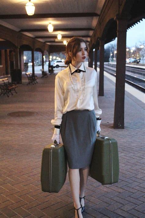 train station  chicago fashion vintage