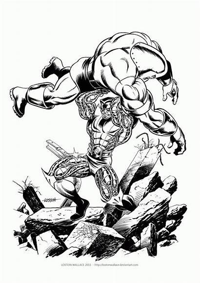 Juggernaut Coloring Colossus Marvel Vs Loston Wallace