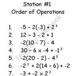 Order of Operations 6th Grade Math Word Problems