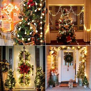 Brizlabs, Warm, White, Christmas, Lights, 2, Pack, 50, Led, 17, 07ft, Battery, Christmas, String, Lights