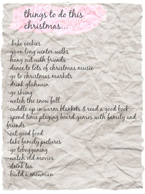 things to do this christmas health inspirations