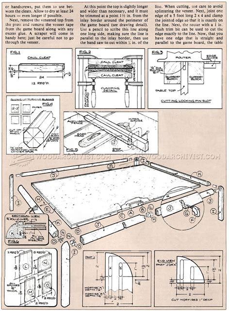 game coffee table plan woodarchivist
