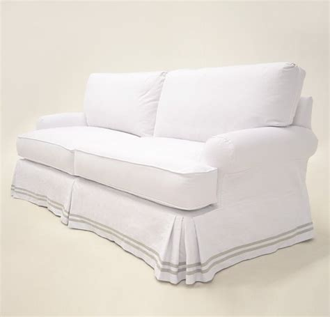White Denim Sofa by 17 Best Ideas About Sofa Slipcovers On