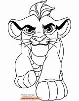 Lion Coloring Guard Pages Kion Disneyclips sketch template