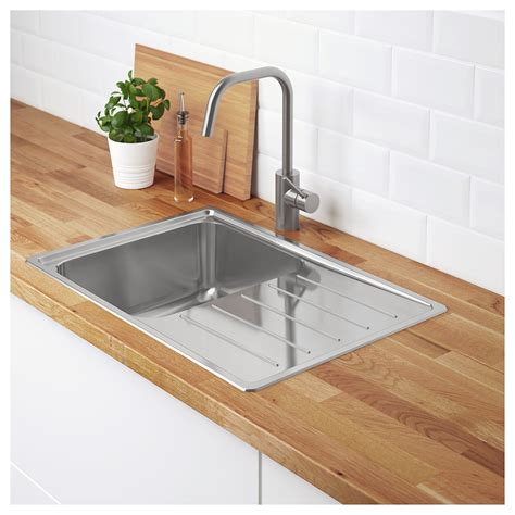 ikea stainless steel sink vattudalen inset sink 1 bowl with drainboard stainless