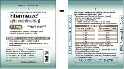 intermezzo fda prescribing information side effects