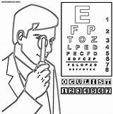 Doctor Coloring Pages Ophthalmologist Colorings Coloringway sketch template