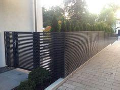 projects modern horizontal aluminum fence