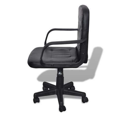 Furniture Black Leather Swivel And Adjustable Chair With by Luxury Leather Office Chair Height Adjustable Swivel Black