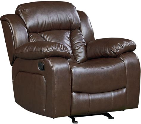 shore chocolate brown leather recliner 4003981