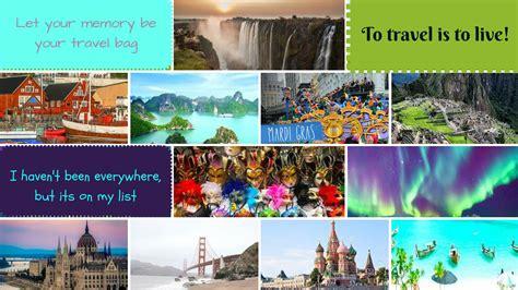create  travel vision board  inspire