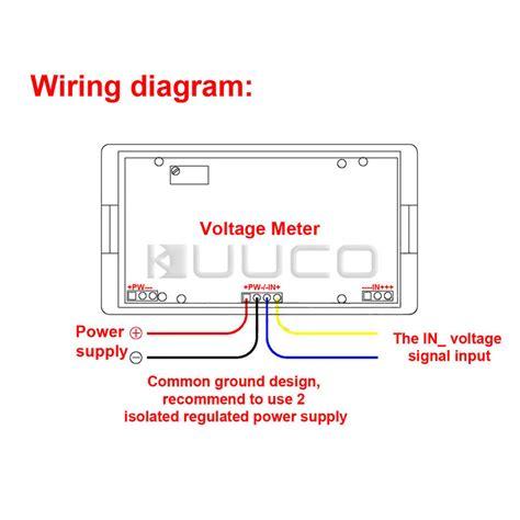 wholesale four wires digital voltage meter ac 0 20v blue