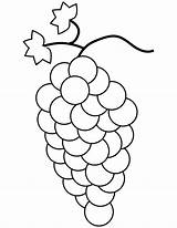Grapes Coloring Pages Bunch Printable Fruit Template Grape Colouring Drawing Bestcoloringpagesforkids Crafts Cluster Medium sketch template