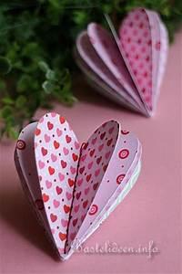 Herz Aus Papier Basteln : basteln zum valentinstag 3d scrapbookpapier herz ~ Lizthompson.info Haus und Dekorationen