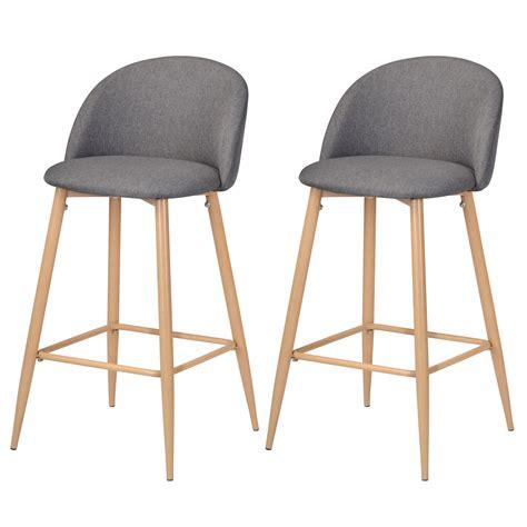 chaise de bar grise chaise de bar cozy grise lot de 2 achetez nos chaises