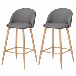 Chaise De Bar : chaise de bar cozy grise lot de 2 achetez nos chaises ~ Farleysfitness.com Idées de Décoration
