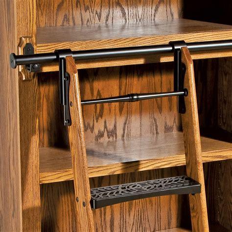vertical rails  rockler vintage library ladder steps
