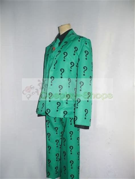 custom cheap batman arkham city  riddler cosplay costume  batman arkham city  riddler
