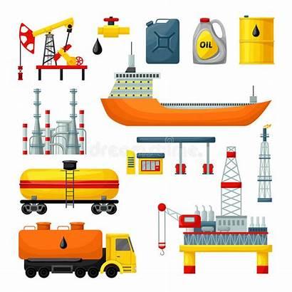 Industry Truck Drilling Industria Icone Delle Raccolta