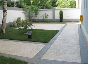 le beton imprime est utilise pour votre terrassement With charming idee decoration jardin exterieur 0 sculpture contemporaine et autres idees de deco du jardin