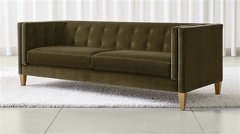 crate and barrel aidan sofa aidan dark green velvet sofa crate and barrel
