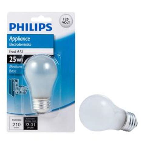 25 watt incandescent a15 appliance light bulb 415331