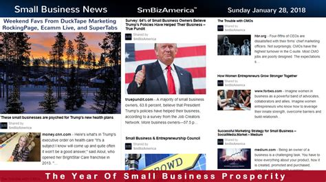 Small Business News Sunday 12818  Small Business News