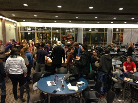 power outage sparks student pizza party  riddell hall