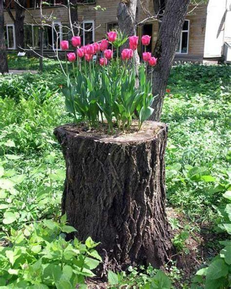 Garten Deko Baumstämme by Kreative Ideen F 252 R Blument 246 Pfe In Ihrem Garten Archzine Net