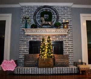 Painted, Brick, Fireplace, Farmhouse, Inspiration