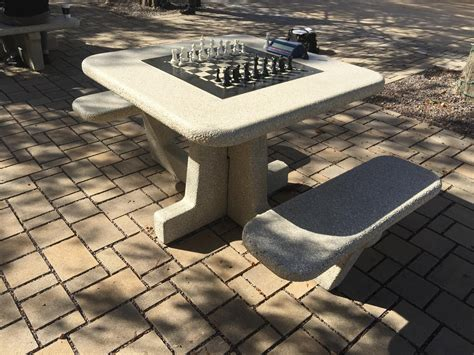 outdoor chess table new outdoor chess tables available in forest park st 1290