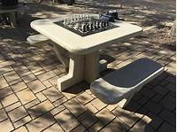 outdoor chess table New outdoor chess tables available in Forest Park | St ...