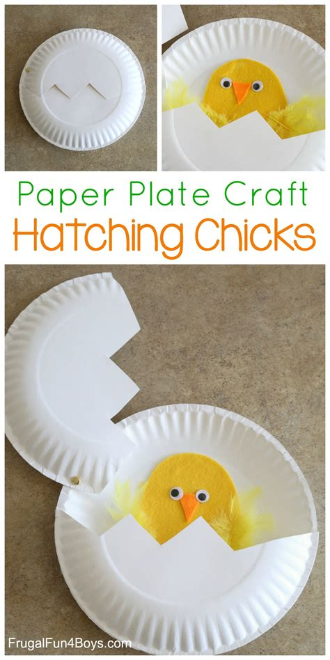 paper plate craft hatching 431 | Paper Plate Chicks Pin