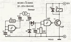 liquid detector water sensor circuit With proximity sensor circuit 8211 detect human presence