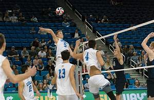 Men's volleyball wins first of two games against top-10 ...