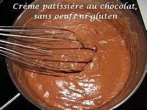 Creme Chocolat Sans Oeuf : cr me patissi re au chocolat sans oeufs ni gluten ~ Nature-et-papiers.com Idées de Décoration