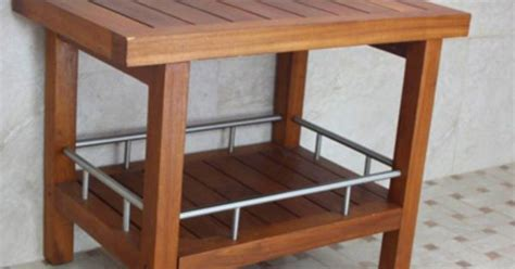 teak shower bench teak bath stools teak furniture aquateak projects shower