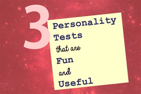 3 Personality Tests That Are Fun And Useful