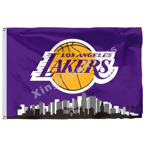 Los Angeles Lakers Los Angeles City Skyline Flag 3ft X 5ft ...