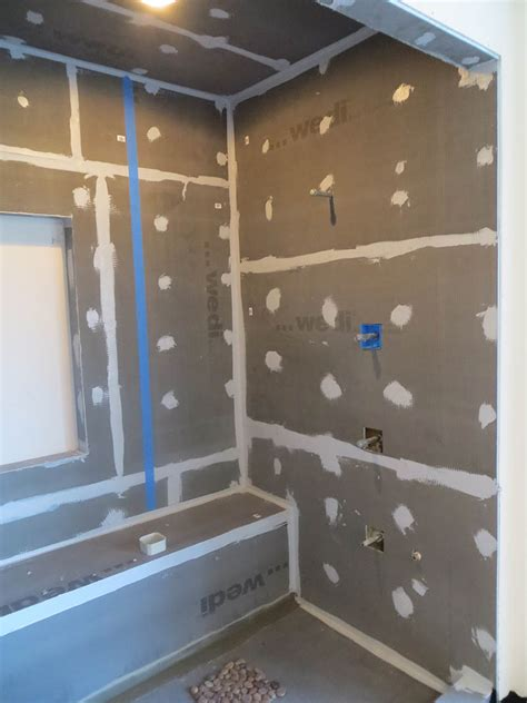 tile niches shower wedi shower systems backerboard or cement board floor