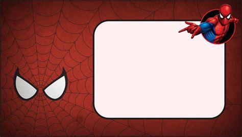 spiderman invitation layout