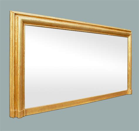 large miroir chemin 233 e moulure dor 233 patin 233