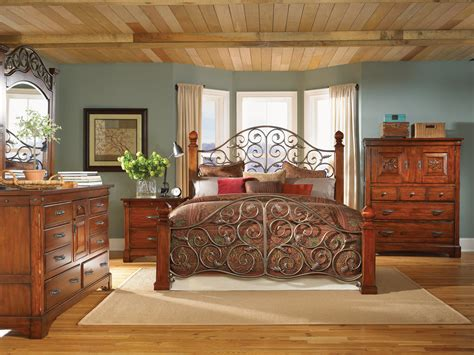 mahogany bedroom furniture  post bed solid wood bed