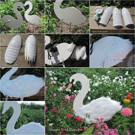 swan garden decorations using plastic bottles find