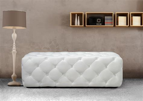Reupholstering A White Tufted Ottoman