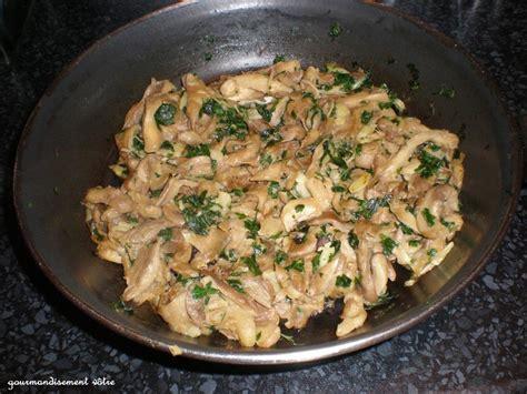 cuisiner pleurotes pleurotes à l 39 ail et persil recette