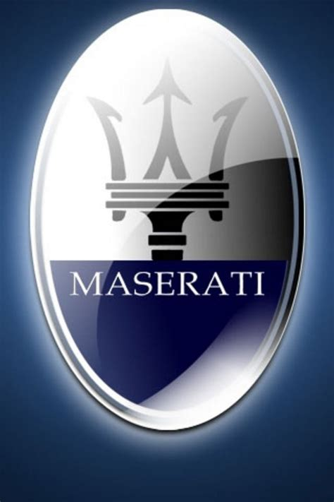 maserati logo maserati logo iphone wallpaper hd