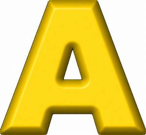 presentation alphabets yellow refrigerator magnet a With big yellow letters